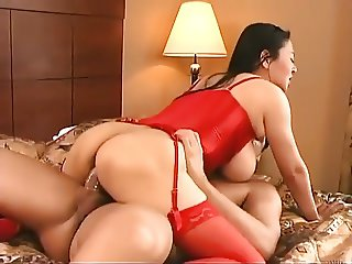 Busty Chinese Woman gets fucked by a white guy