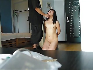 Chinese Sex Slave Lili: learn to count by face