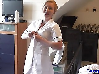 English mature nurses share cock in trio