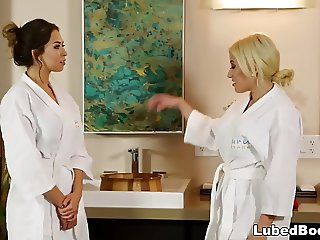 Step-cousin massage and fuck - Melissa Moore