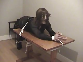 Girl restrained office bimbo bitch