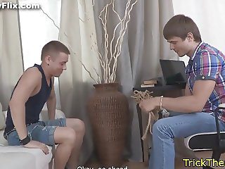 Tricked russian beauty banged doggystyle
