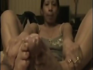 Filipina footjob compilation