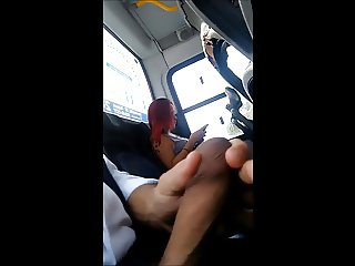 Masturbation in bus 10