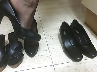 Heels in the kitchen