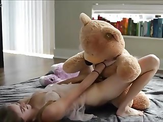 first orgasm on strapon teddy a gift from daddy