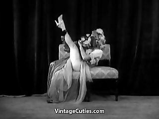 Sexy Girl Does a Puppet Dance (1950s Vintage)