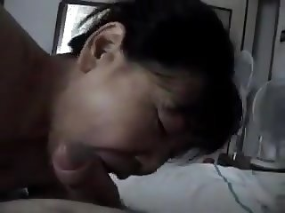Amateur Asian mature bj