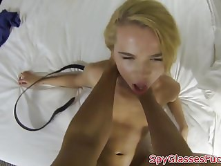 POV fucked babe pickedup and filmed