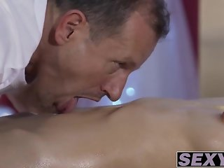 Trimmed pussy Aruna Aghora drille deep by big dick George