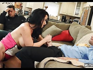 Crazy Wife makes Her Husband watch Her Cheat