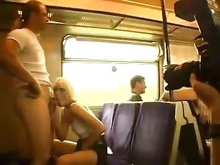 public flashing sex on train