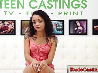 Casting teenie roughfucked on the couch