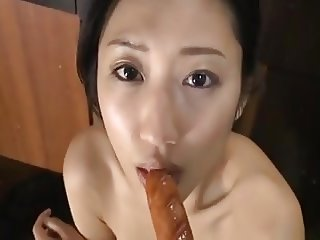 Hot japanese girl Sucking sausage