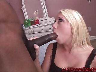 Little blonde Shawna has her first massive black cock!
