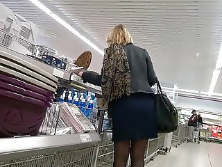 Nice MILF with pantyhose