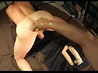 blonde using dildo and fist bf ass
