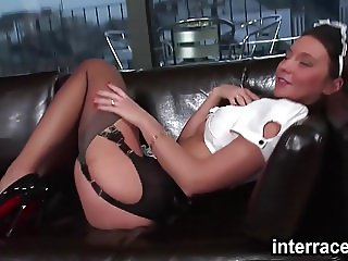 Interraced.com Sexual maid getting nailed by a BBC