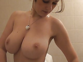 Young lady with perfect natural big tits
