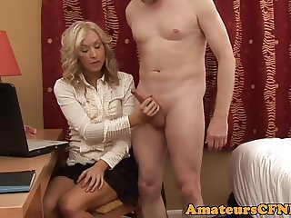 Dominant CFNM wife jerksoff cheating husband