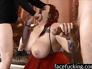 (new) Miserable BBW Curvy Quinn throat pounded to extreme