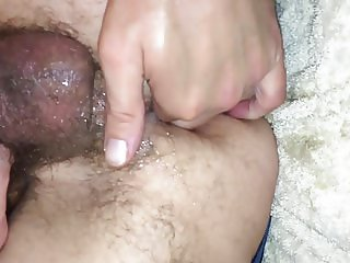 Fisting my husbands tight arse for the first time