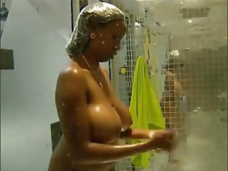 Ebony With Massive Ones Showers