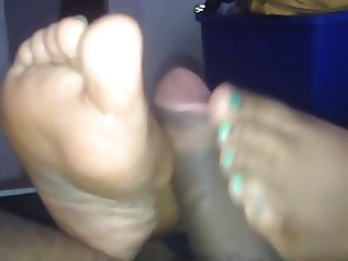Ebony footjob ever