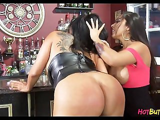 Girls have fun at the bar after hours