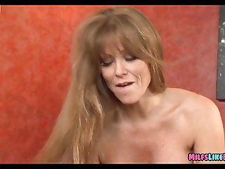 Horny MILF gets a new guy to Fuck