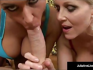 Mommy Milf Julia Ann & Jessica Jaymes Get A Hot Load of Cum!