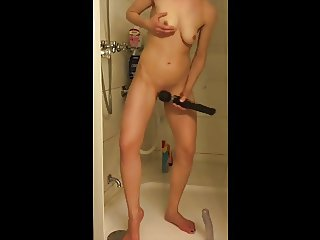 Showering with annoying Dildo and We-Vibe. I need wand!
