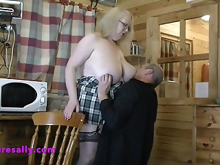 Granny with marvelous tits on holiday