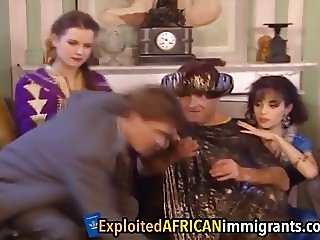 African Sluts Take Long White Schlong In Pussies