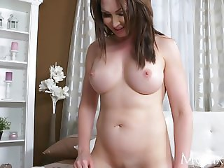 MOM Horny old Milf takes home toy boy from gym and teases
