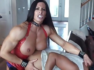 Mistress fucks a woman with a huge strapon