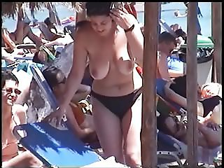 Big Natural Tits On Greek Beach