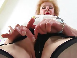 Old granny need cocks for all her holes