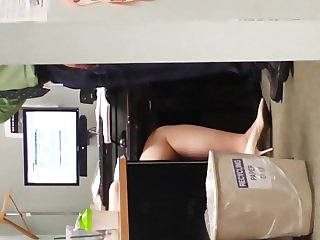 Thick Mature Office Pantyhose Legs
