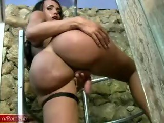 Doll with balls and incredibly huge ass strokes and cumshots