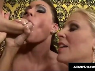 The Milf Julia Ann w/ Jessica James Suck A Cock Together!