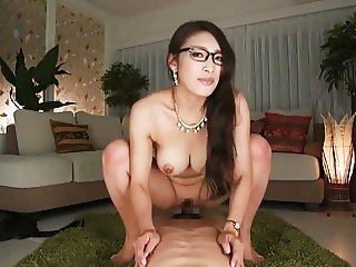 What's her name? Japanese secretary rides and takes creampie