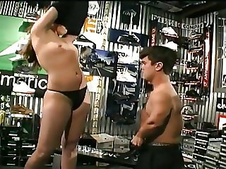 longhair blonde ryan meadows fucks a midget in a skate shop