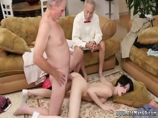 Teen fucks old granny Frannkie goes down