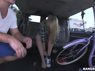 Skinny Lily Rader Sucking In A Car