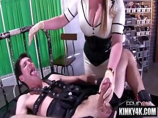 Hot pornstar bondage and massage