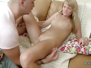 Small Teen get first Fuck and Facial by Big Cock Brother