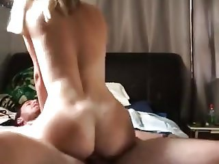 beautiful hot girlfriend rides his boyfriends dick