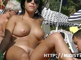 This nudist babes naked at the beach compilation is really a
