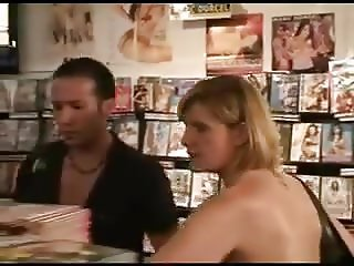 STP7 Horny French Milf Gets Good Service In The Sex Shop !